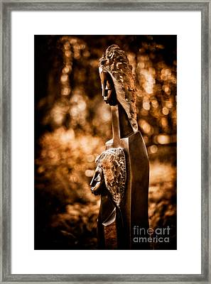 Proud Of My Daughter Framed Print by Venetta Archer