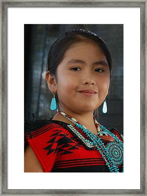 Proud To Be A Beautiful Native American Framed Print