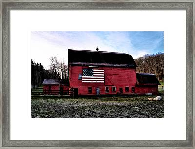 Proud To Be American Framed Print by Bill Cannon