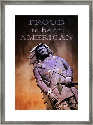 Proud To Be An American Framed Print by Bob Pardue
