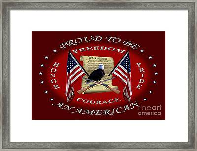 Proud To Be An American Framed Print by Michael Waisner