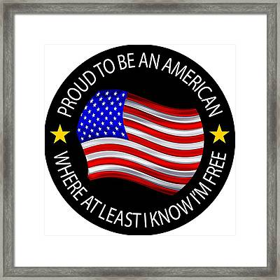 Proud To Be An American Framed Print by Peter Stevenson