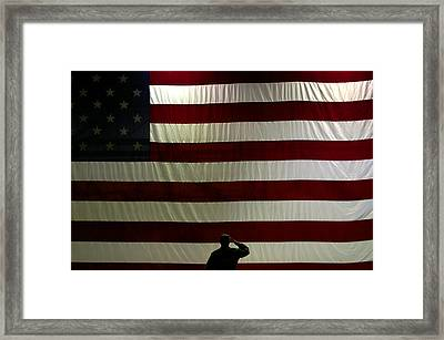 Proud To Be Framed Print by Don Prioleau