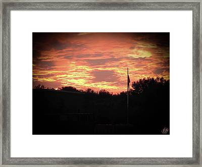 Proud To Be Framed Print by Elie Wolf
