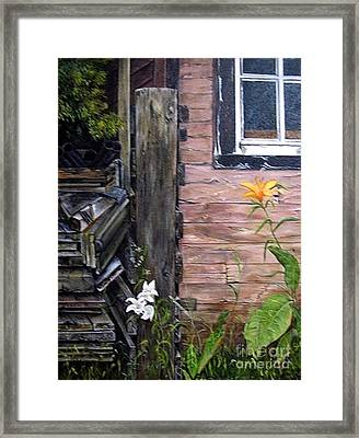 Framed Print featuring the painting Proud To Be Orange by Anna-Maria Dickinson