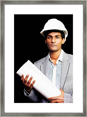 Proud Young Architectural Student Or Engineer Framed Print by Jorgo Photography - Wall Art Gallery