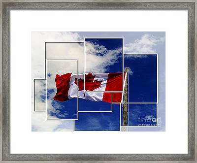 Proudly Canadian Framed Print