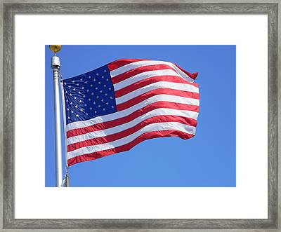 Proudly Waving Framed Print by Warren Thompson