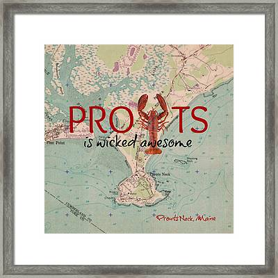 Prouts Maine Lobster V2 Framed Print by Brandi Fitzgerald