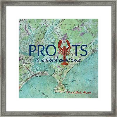 Prouts Neck Lobster V1 Framed Print by Brandi Fitzgerald