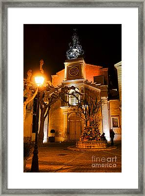 Framed Print featuring the photograph Provencal Night by Olivier Le Queinec