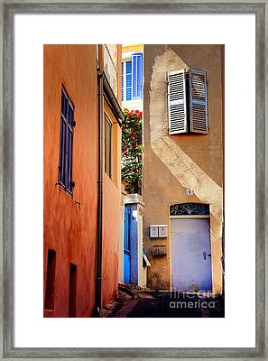 Framed Print featuring the photograph Provencal Passage  by Olivier Le Queinec