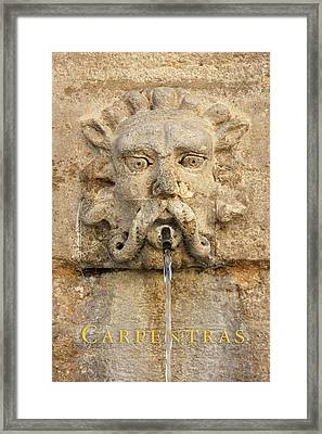 Provence Fountain 2 Carpentras Framed Print by Philippe Taka
