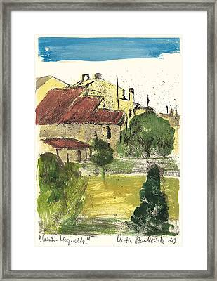 Provence Landscape Sainte Marguerite Framed Print by Martin Stankewitz
