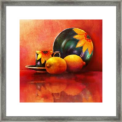 Provence Reflections Framed Print