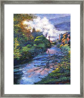 Provence River Framed Print by David Lloyd Glover