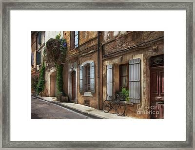 Provence Street Scene Framed Print