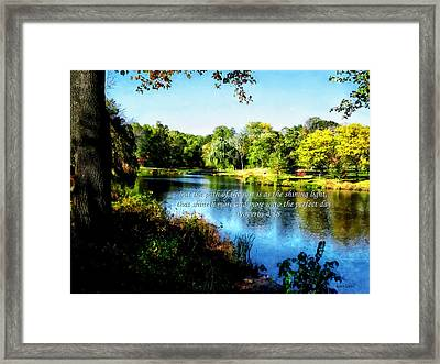 Proverb 4-18 Path Of The Just Framed Print by Susan Savad