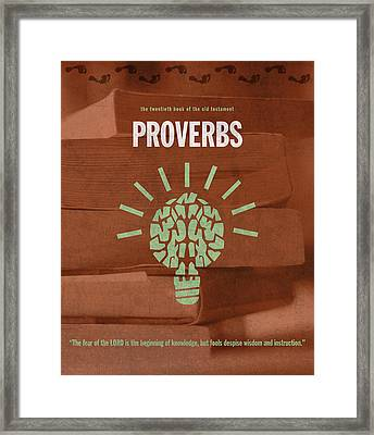 Proverbs Books Of The Bible Series Old Testament Minimal Poster Art Number 20 Framed Print