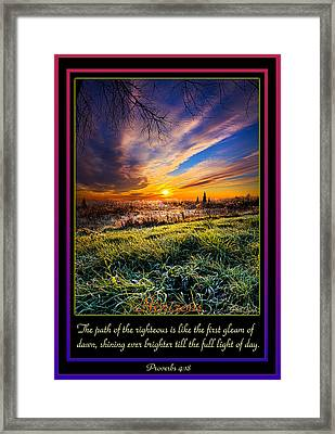 Proverbs Framed Print