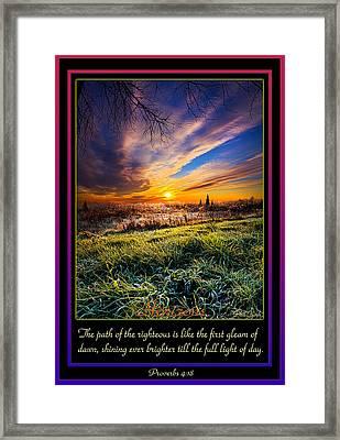 Proverbs Framed Print by Phil Koch