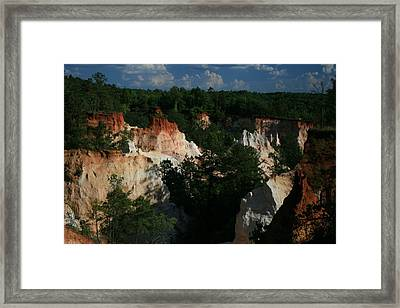 Providence Canyon Framed Print by Johann Todesengel
