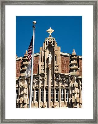 Providence College Harkins Detail Full Color Framed Print by Nancy De Flon