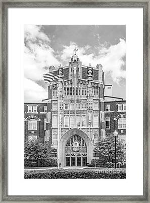 Providence College Harkins Hall Framed Print by University Icons