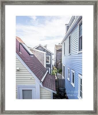Provincetown Alley Cape Cod Framed Print by Edward Fielding