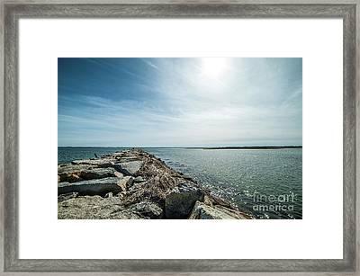 Provincetown Breakwater Framed Print