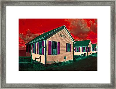 Provincetown Cottages Framed Print