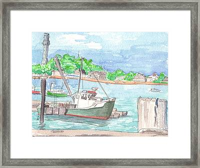 Provincetown Dock Framed Print by E Gibbons