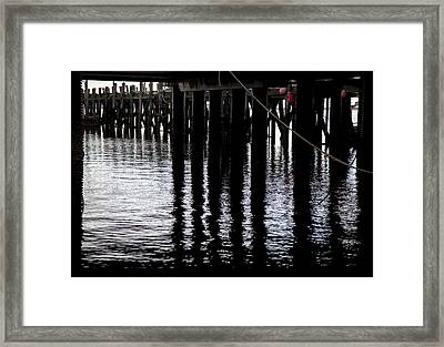 Framed Print featuring the photograph Provincetown Wharf Reflections by Charles Harden