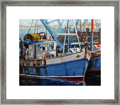 Provinctown Fishing Boats Framed Print
