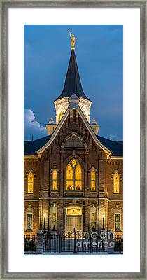 Provo City Center Temple At Night - Utah Framed Print by Gary Whitton
