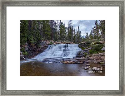 Framed Print featuring the photograph Provo River Falls by Spencer Baugh