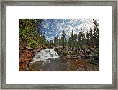 Framed Print featuring the photograph Provo River Falls by Wesley Aston