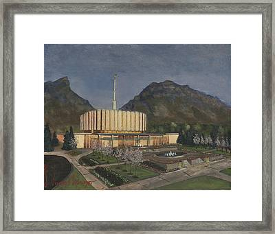 Provo Spring Evening Framed Print