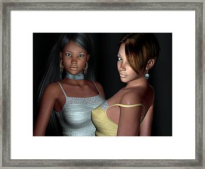 Provocative Flirt Close Up Framed Print by Alexander Butler