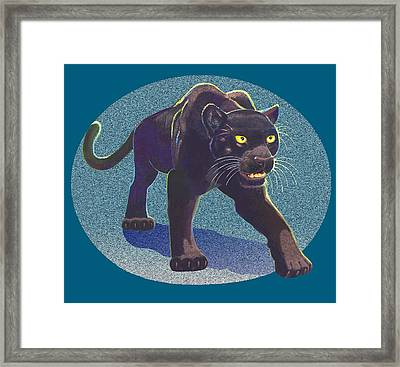 Framed Print featuring the mixed media Prowl by J L Meadows
