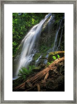 Framed Print featuring the photograph Proxy Falls by Cat Connor