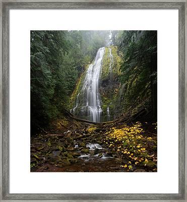 Proxy Falls In Autumn Framed Print by Brian Bonham