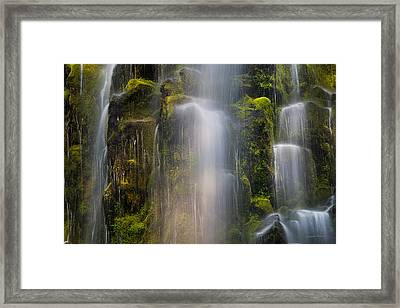 Proxy Falls Textures And Light 2 Framed Print by Leland D Howard