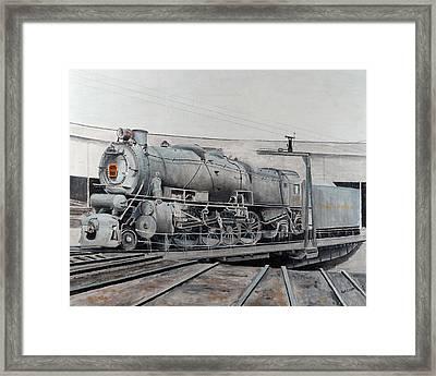 Prr M1 On Turntable Altoona Pa Framed Print by Paul Cubeta