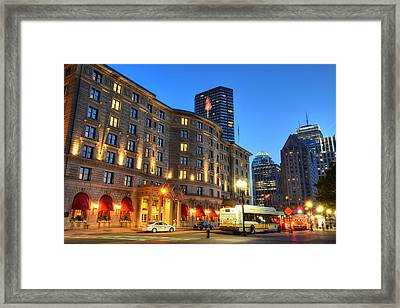 Prudential Fairmont Copley Plaza Boston Ma Framed Print by Toby McGuire