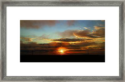 Prudhoe Bay Sunset Framed Print