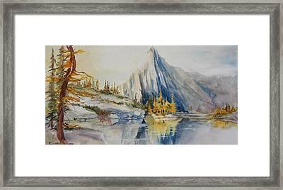 Prusik Peak Fall Morning Framed Print by Sukey Watson
