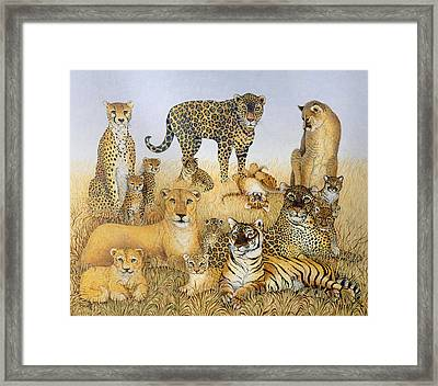 The Big Cats Framed Print by Pat Scott