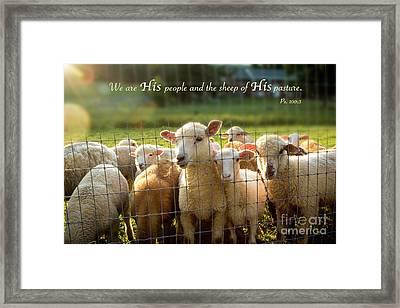Psalm 100 Framed Print