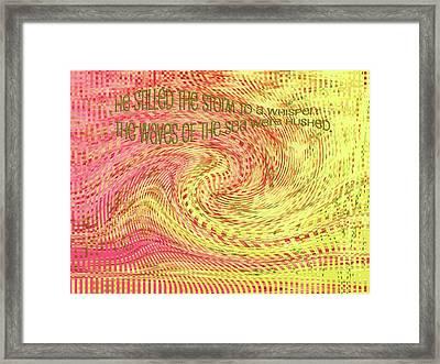Psalm 107 Framed Print by Bonnie Bruno